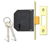 Thumbnail of Union Essential - 3 Lever Deadlock (79mm, Polished Brass)
