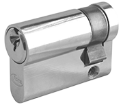 Asec 6 Pin - Euro Half Cylinder 35 - 10 (45mm Nickel Plated)