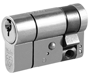 Thumbnail of Yale Anti-Snap - Euro Half Cylinder 40 - 10 (50mm Nickel Plated)