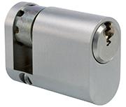 ERA 5 Pin - Oval Half Cylinder 30 - 10 (40mm Satin Chrome)