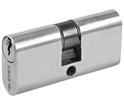 CISA C2000 - Small Oval Double Cylinder 27 - 27 (54mm Nickel Plated)