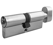 Asec 5 Pin - Euro Thumbturn Cylinder 40 - 40 (80mm Nickel Plated)