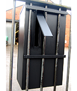 Black Railings Post Box
