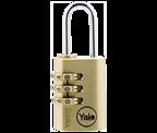 Yale Y150 22mm Brass Combination Padlock