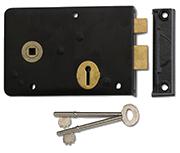 Thumbnail of Union 1439 - 3 Lever Rim Lock (152mm) - Left Handed (Black)