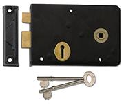 Thumbnail of Union 1439 - 3 Lever Right Handed Rim Lock (152mm, Black)