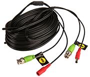 Yale 30m Black CCTV BNC Camera Cable