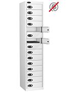 Probe Fifteen Door White Laptop Locker