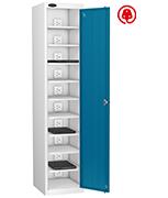 Probe Ten Bay Blue Laptop Locker (charging)