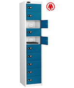 Thumbnail of Probe Ten Door Blue Laptop Locker (charging)