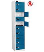 Thumbnail of Probe Ten Door Blue Laptop Locker (charging)