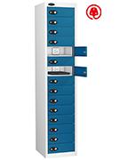 Thumbnail of Probe Fifteen Door Blue Laptop Locker (charging)