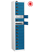 Probe Fifteen Door Blue Laptop Locker (charging)