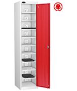 Thumbnail of Probe Ten Bay Red Laptop Locker (charging)