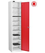 Thumbnail of Probe Ten Bay Red Laptop Locker (charging)