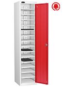 Thumbnail of Probe Fifteen Bay Red Laptop Locker (charging)