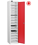 Thumbnail of Probe Fifteen Bay Red Laptop Locker (charging)