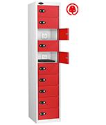 Thumbnail of Probe Ten Door Red Laptop Locker (charging)