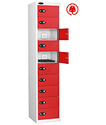 Thumbnail of Probe Ten Door Red Laptop Locker (charging)