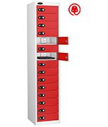 Thumbnail of Probe Fifteen Door Red Laptop Locker (charging)