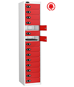 Thumbnail of Probe Fifteen Door Red Laptop Locker (charging)