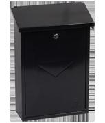 Villa Black - Steel Post Box