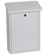 Villa White - Steel Post Box