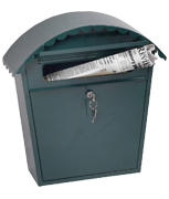 Clasico Green - Steel Post Box