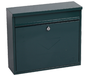 Thumbnail of Correo Green - Steel Post Box