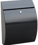 Curvo Black - Steel Post Box