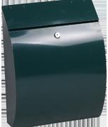 Curvo Green - Steel Post Box