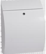 Thumbnail of Curvo White - Steel Post Box