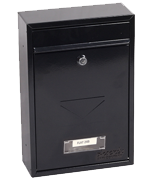 Letra Black - Steel Post Box
