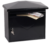 Libro Black - Steel Post Box