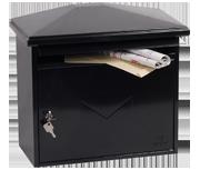 Libro Black - Steel Post Box