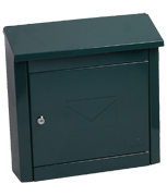 Moda Green - Steel Post Box