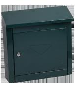 Thumbnail of Moda Green - Steel Post Box