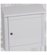 Thumbnail of Moda White - Steel Post Box