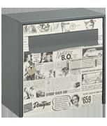 Retro Design - Steel Post Box