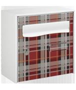 Tartan Design - Steel Post Box