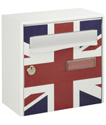 Union Jack Design - Steel Post Box