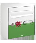 Wales Design - Front loading 13Ltr Medium Post Box