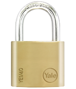 Yale YE1 Essential 40mm Brass Padlock