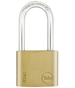 Yale YE1 Essential 40mm Long Shackle Brass Padlock