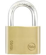 Yale YE1 Essential 50mm Brass Padlock