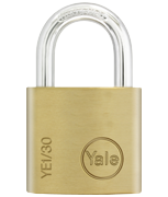 Yale YE1 Essential 30mm Brass Padlock