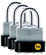 Thumbnail of Yale Y125 40mm Laminated Steel Padlock (3 pack)