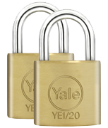 Thumbnail of Yale YE1 Essential 20mm Brass Padlock (2 pack)