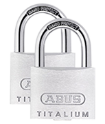 ABUS TITALIUM 64TI/40 Padlock (4 pack)