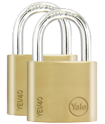 Thumbnail of Yale YE1 Essential 40mm Brass Padlock (2 pack)